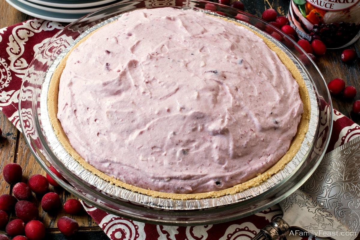 No-Bake Cranberry Cream Pie