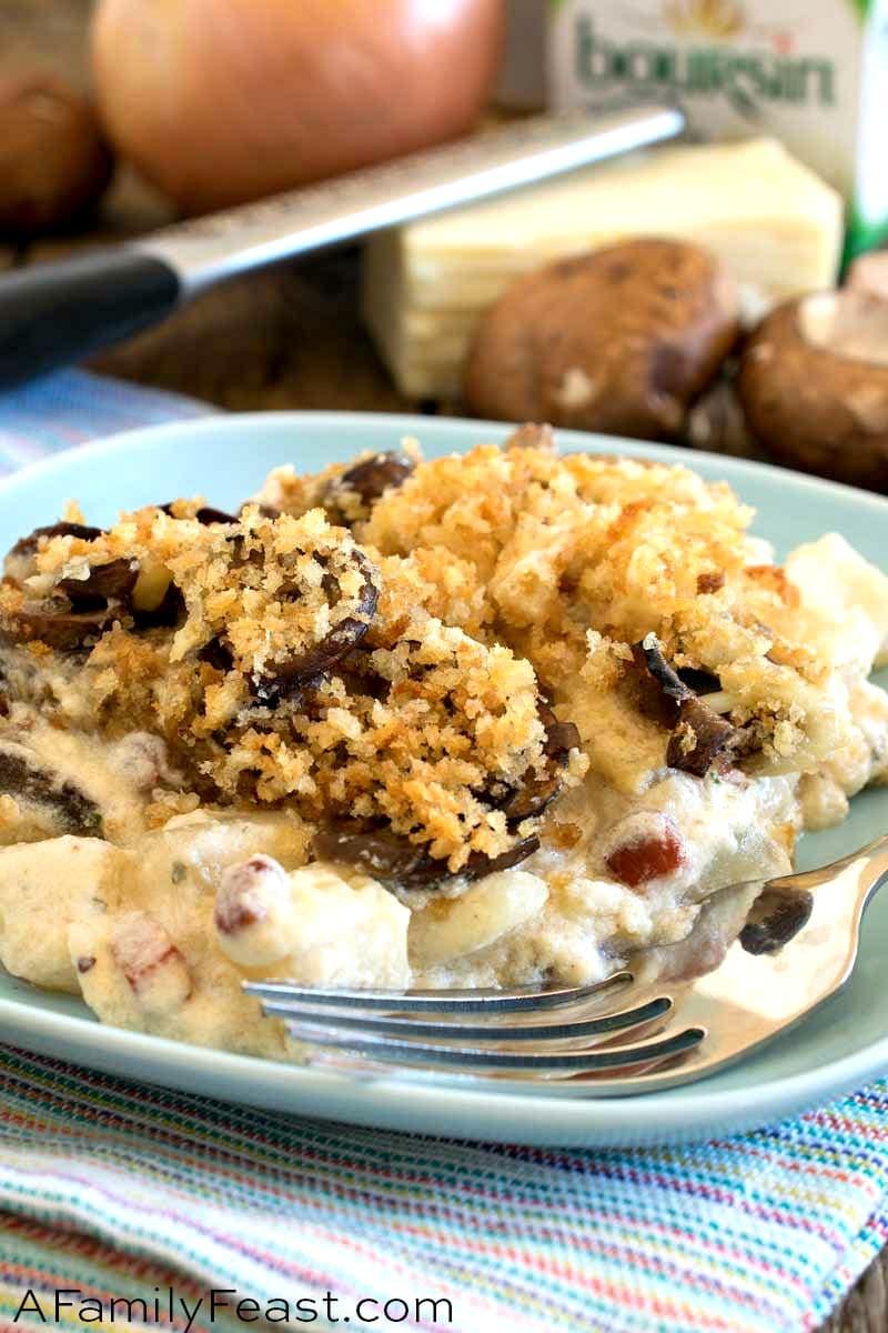 Potato Mushroom Boursin Au Gratin