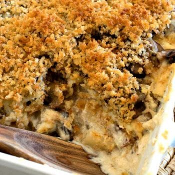 Potato Mushroom Boursin Au Gratin - A Family Feast