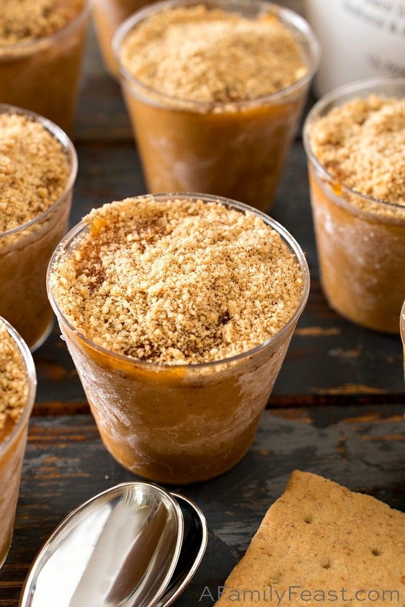 Pumpkin Rumchata Pudding Shots - A Family Feast