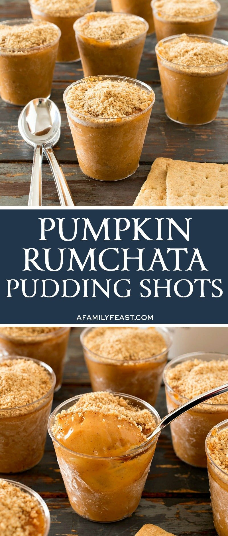 Pumpkin Rumchata Pudding Shots