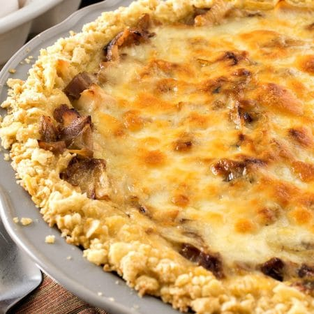 Sweet Onion Turkey Cheddar Pie