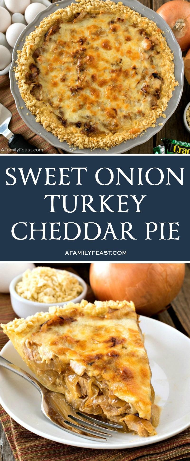 Sweet Onion Turkey Cheddar Pie
