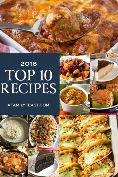 A Family Feast: Top 10 Recipes of 2018