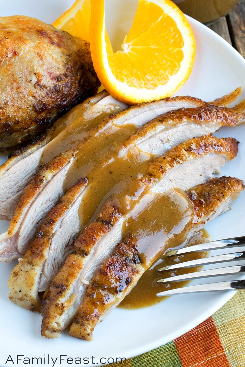Orange Ale Roasted Duck - A Family Feast