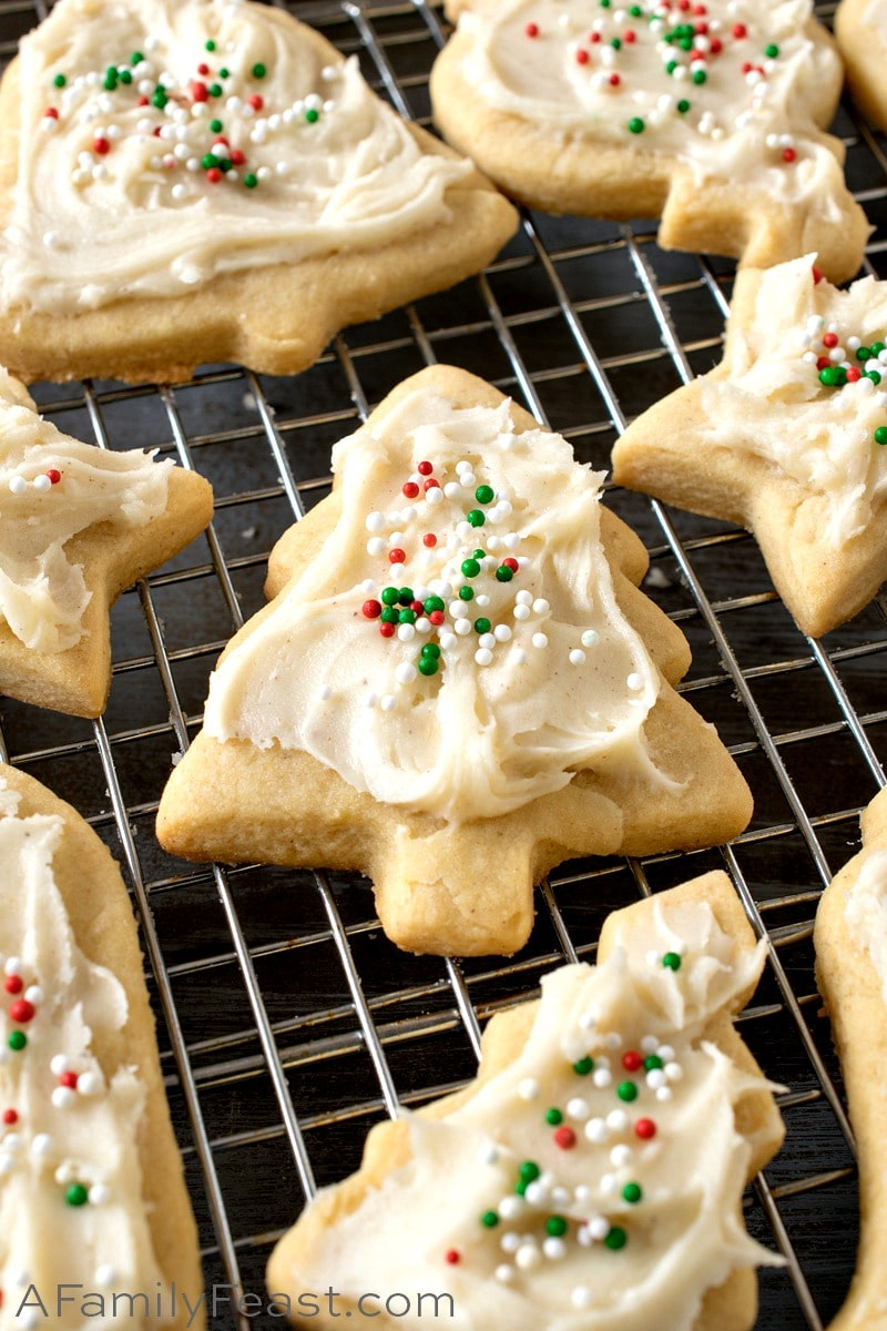 Eggnog Cookies with Eggnog Frosting