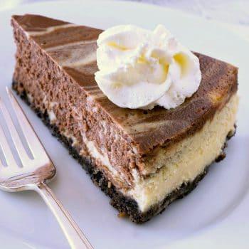 Eggnog Marble Cheesecake
