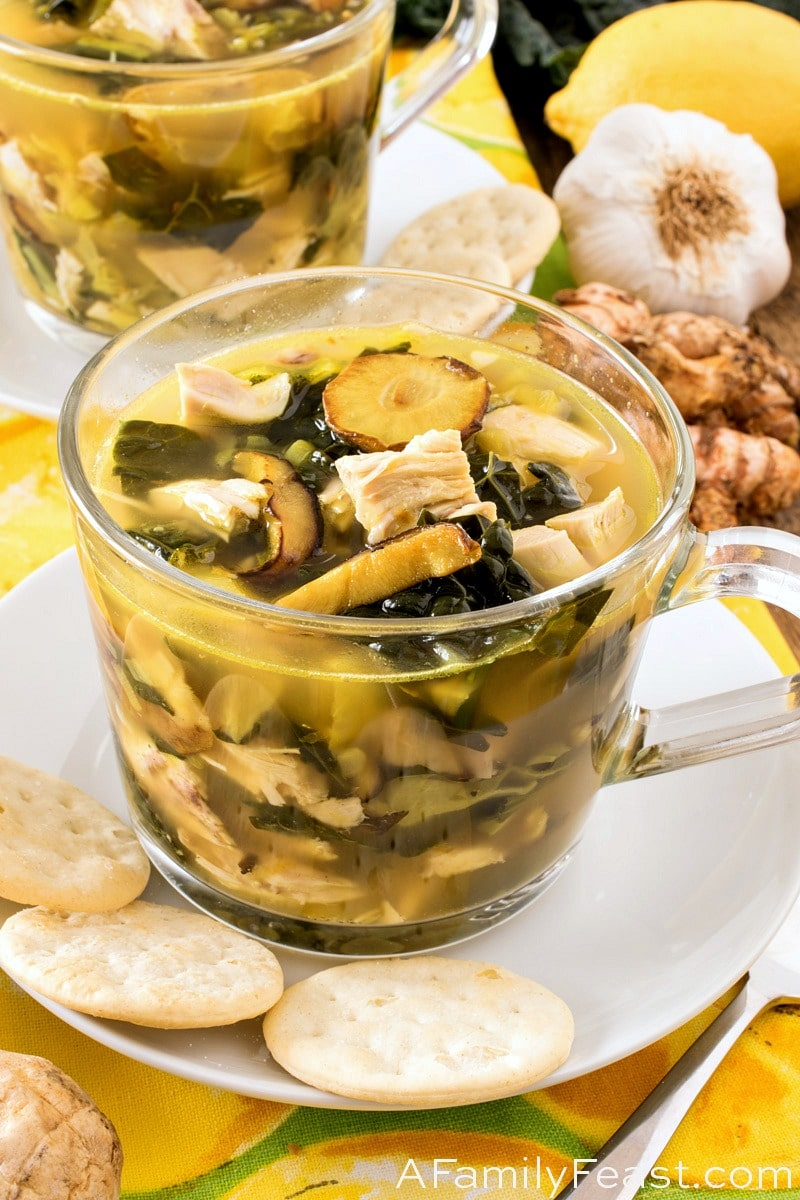 Flu Chaser Chicken Soup - A Family Feast