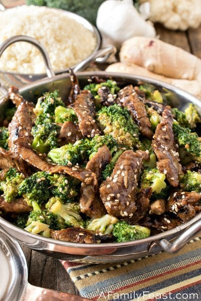 Healthier Mongolian Beef and Broccoli