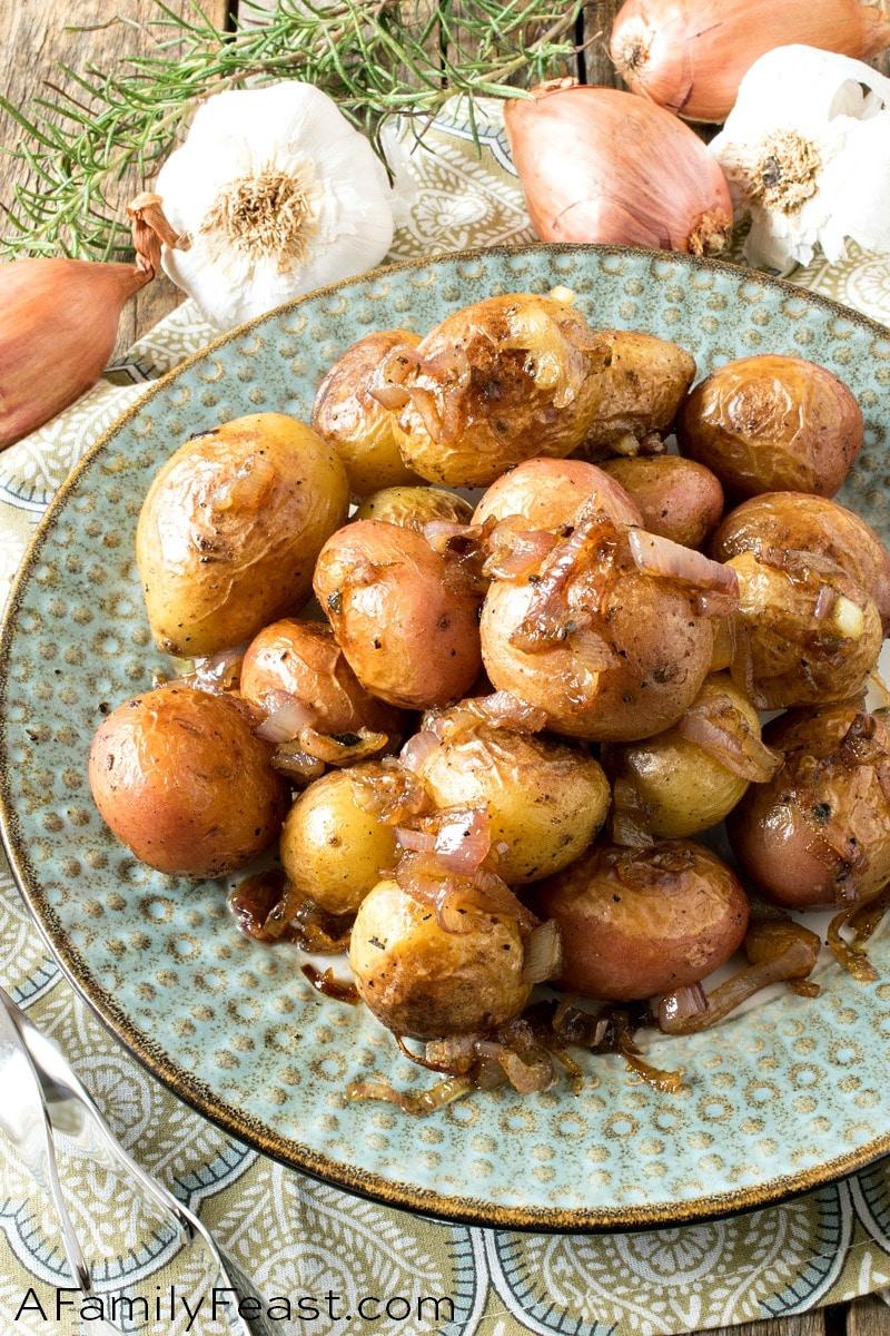 Rosemary Garlic Baby Potatoes
