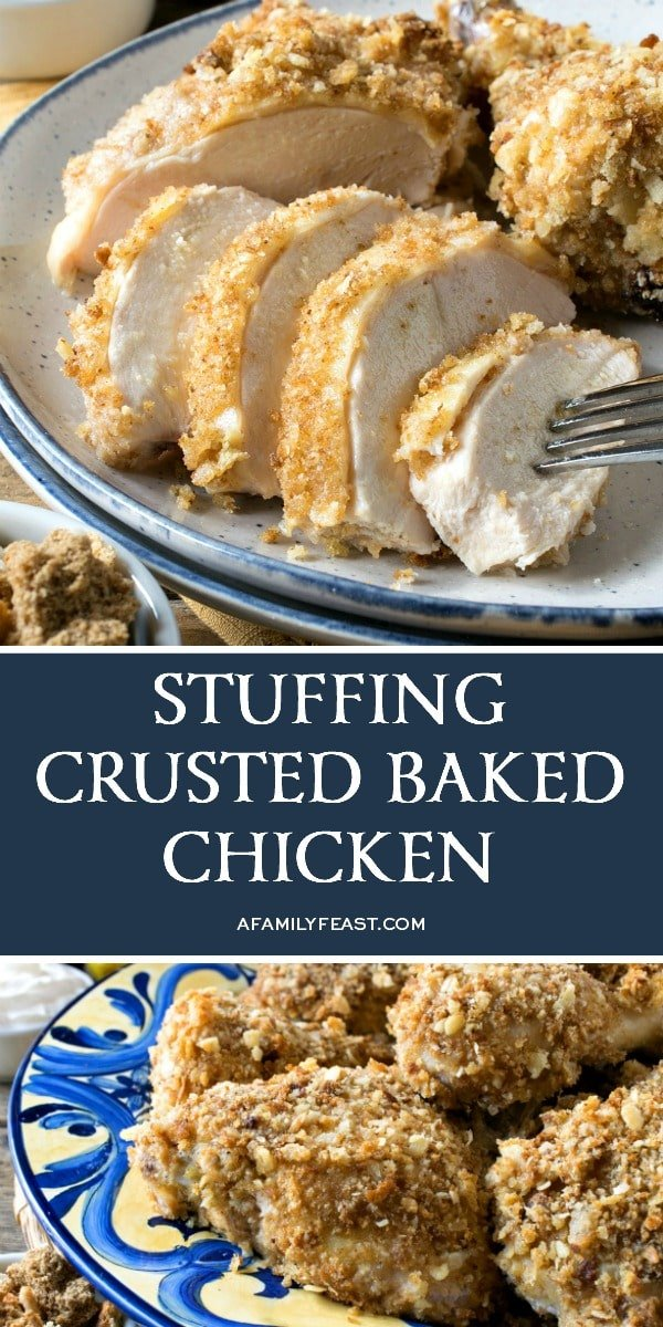 Stuffing Crusted Baked Chicken -