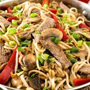 Healthier Beef Lo Mein