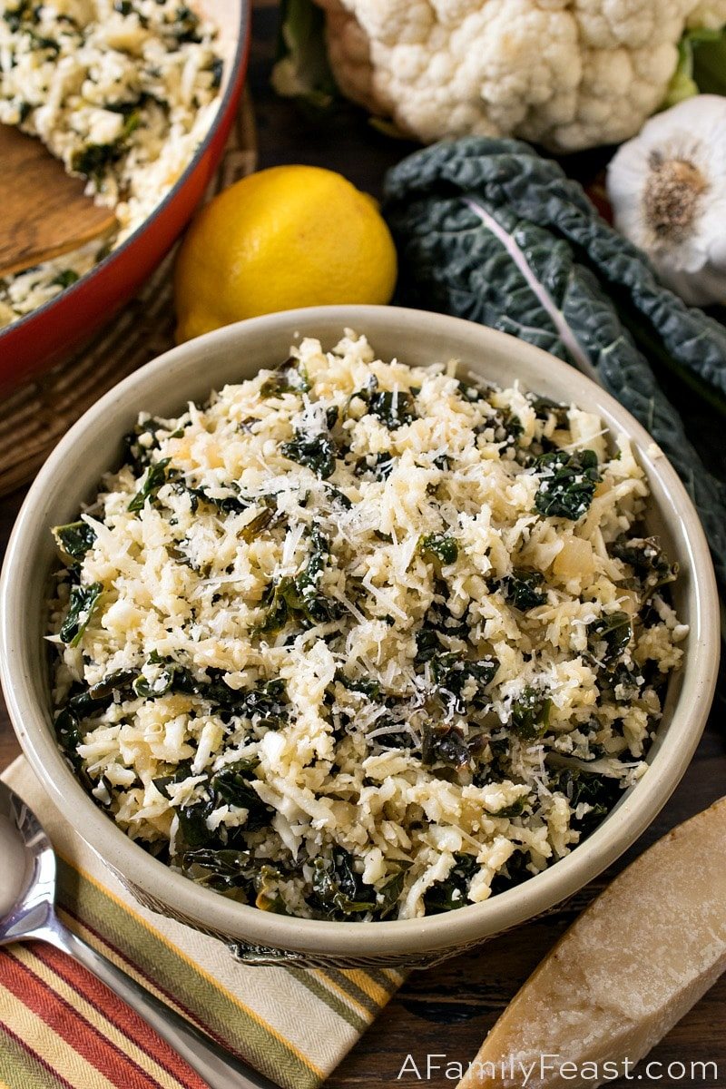 Cauliflower Rice with Tuscan Kale