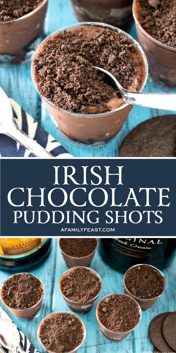 Irish Chocolate Pudding Shots