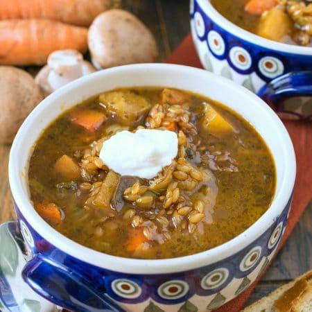 Polish Barley and Vegetable Soup