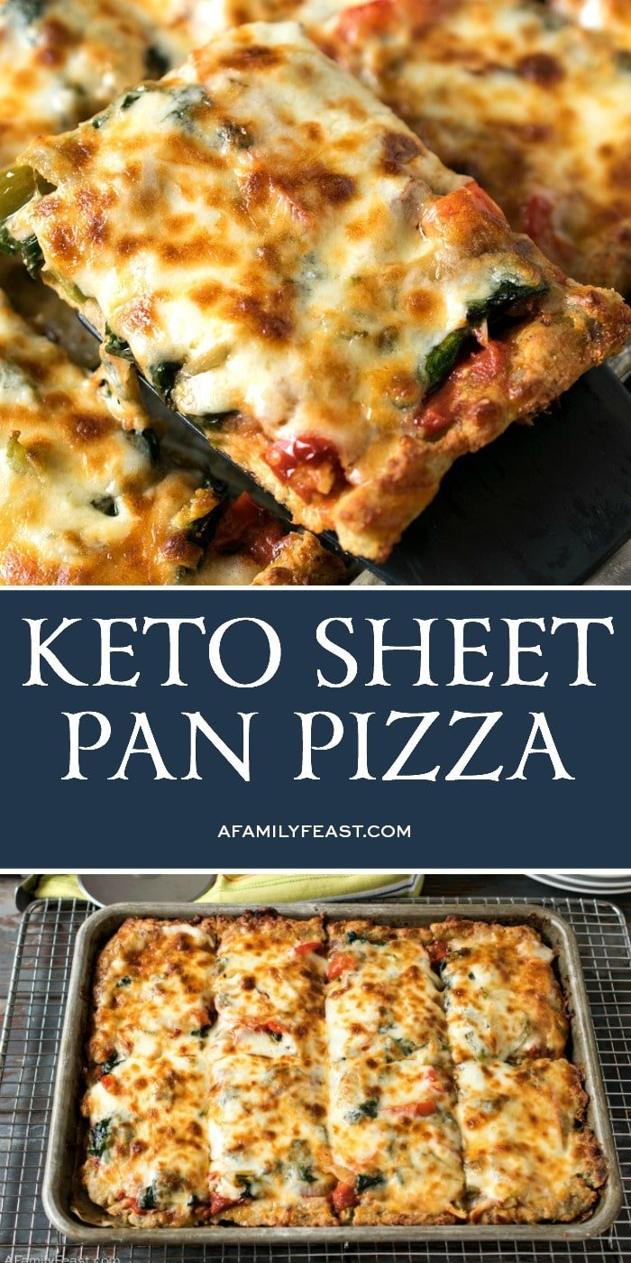Keto Sheet Pan Pizza - A Family Feast