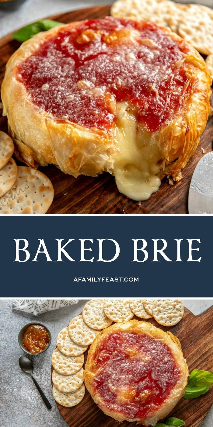 Baked Brie with Phyllo Dough and Jam