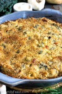 Kale Fennel & Rice Gratin