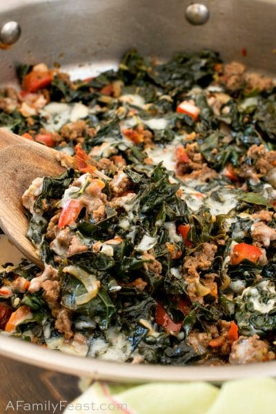 Keto Beef and Kale Skillet