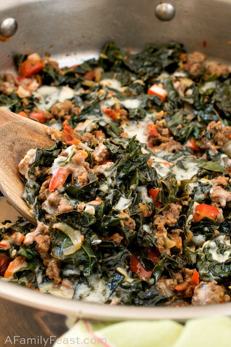 Beef And Kale Skillet Keto Low Carb A Family Feast