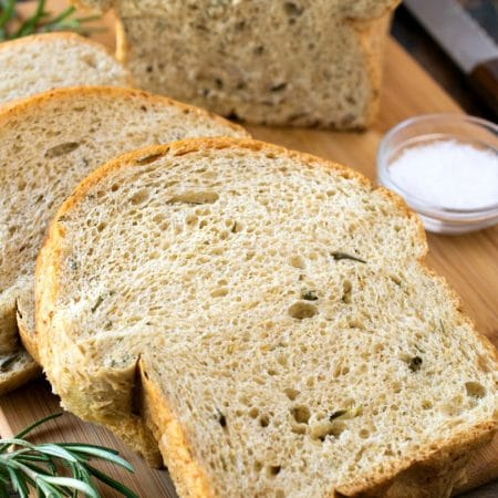 Rosemary Sea Salt Keto Bread