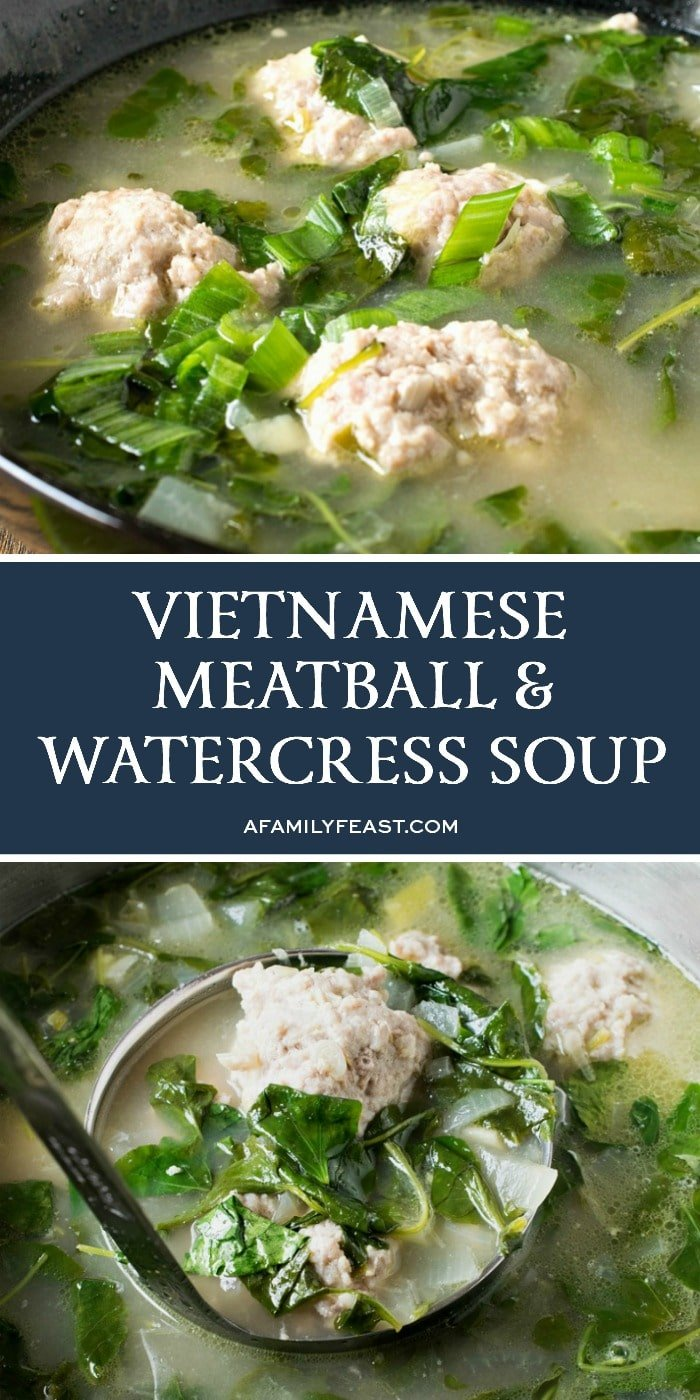 Vietnamese Meatball and Watercress Soup