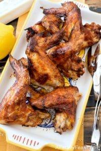 Lemon Butter Air Fryer Chicken Wings