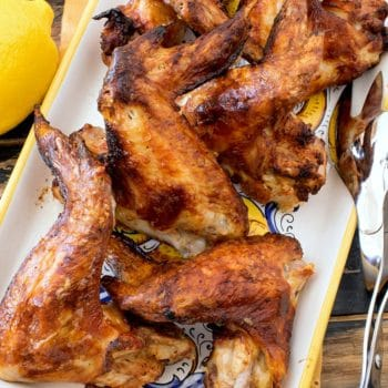 Lemon Butter Air Fryer Chicken Wings