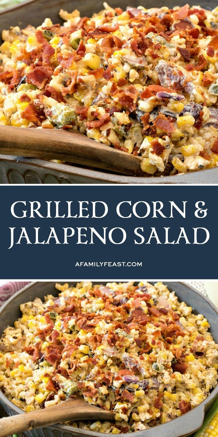 Grilled Corn and Jalapeño Salad
