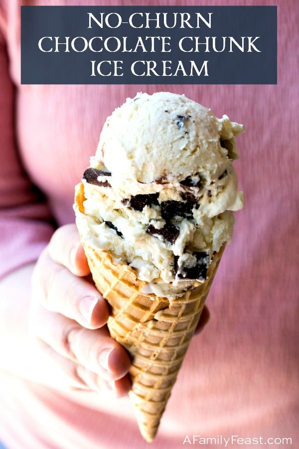 No-Churn Chocolate Chunk Ice Cream