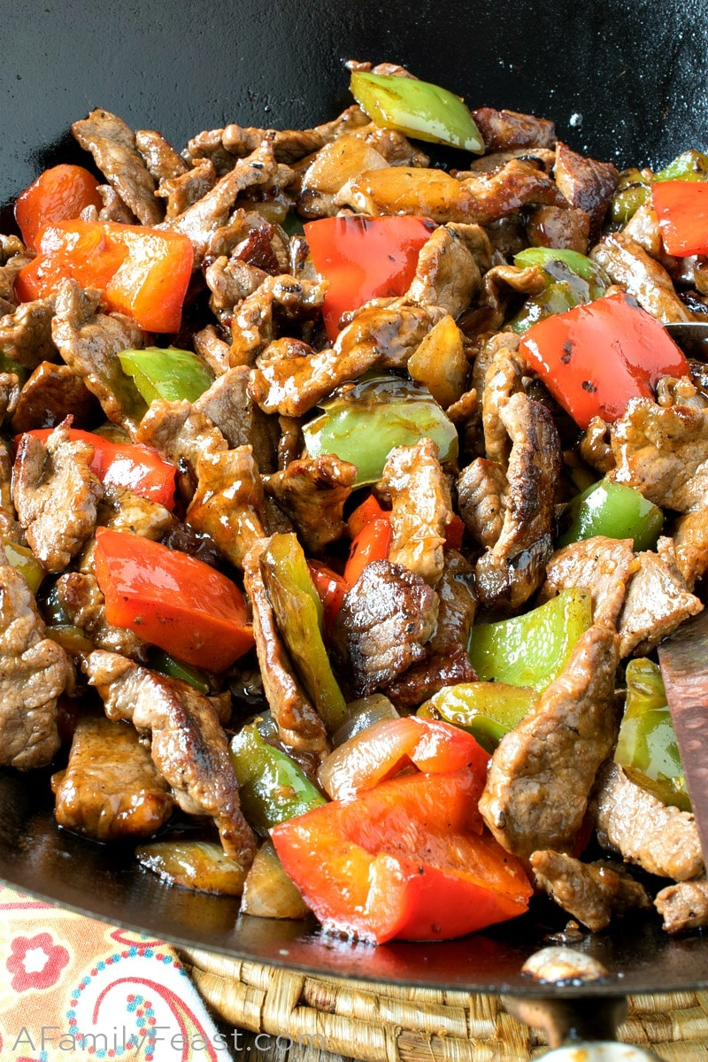 Asian Pepper Steak Bites