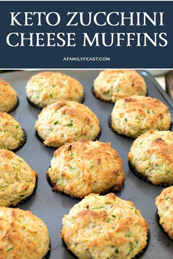 Savory Keto Zucchini Cheese Muffins