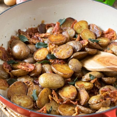 Little Potatoes with Crispy Prosciutto and Sage