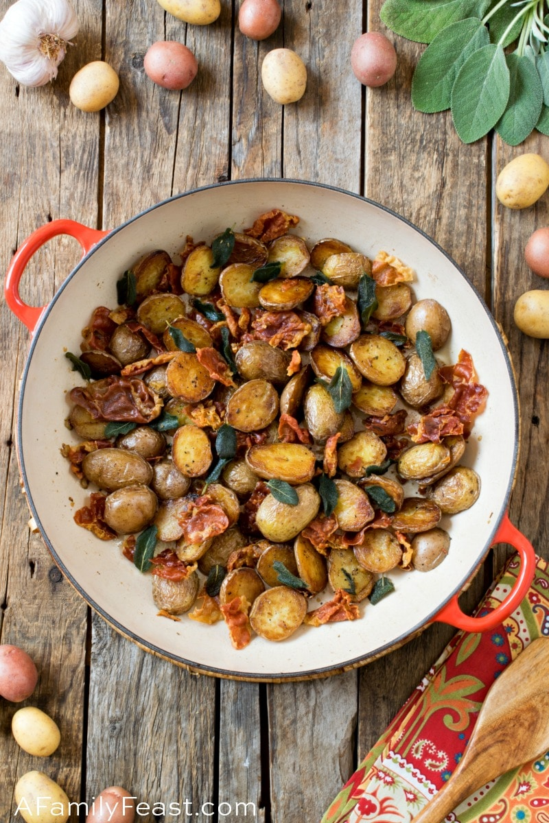 Potatoes with Crispy Prosciutto and Sage