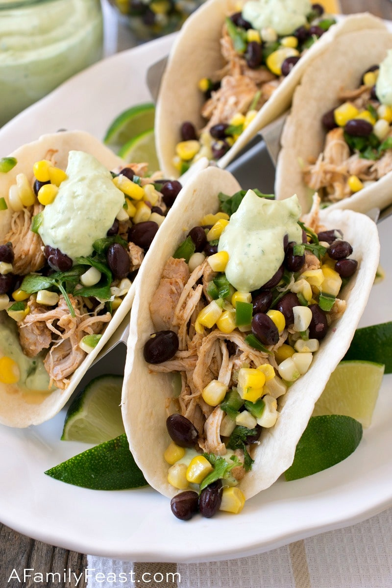 Easy Southwest Chicken Street Tacos