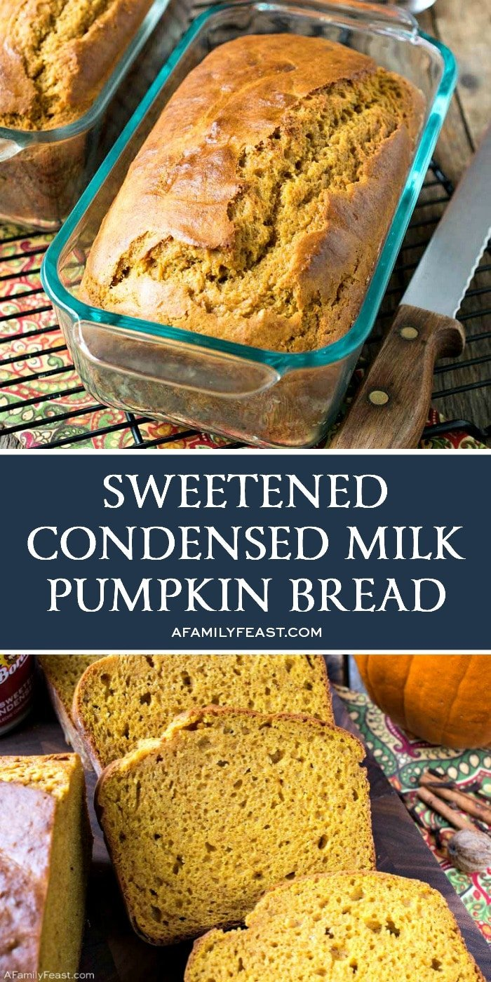 Sweetened Condensed Milk Pumpkin Bread