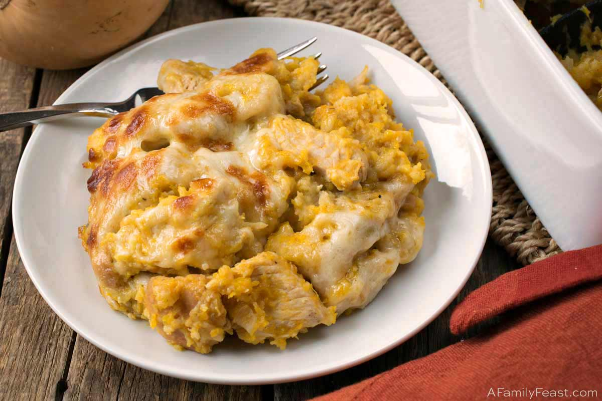 Butternut Turkey Casserole made with Thanksgiving leftover