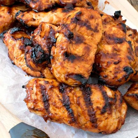 Grilled BBQ Turkey Tips