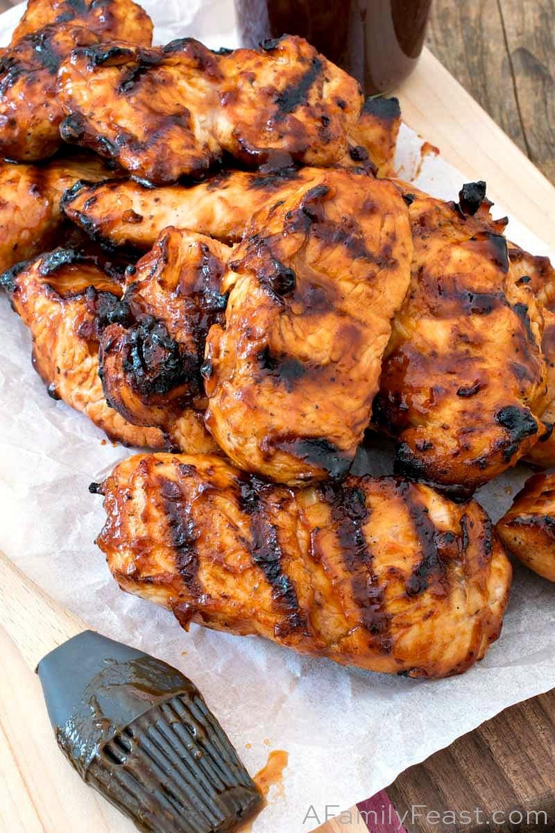 Grilled BBQ Turkey Tips