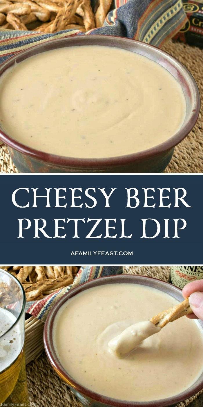 Cheesy Beer Pretzel Dip