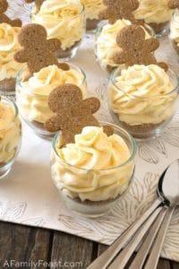 No Bake Mini Eggnog Cheesecake Cups