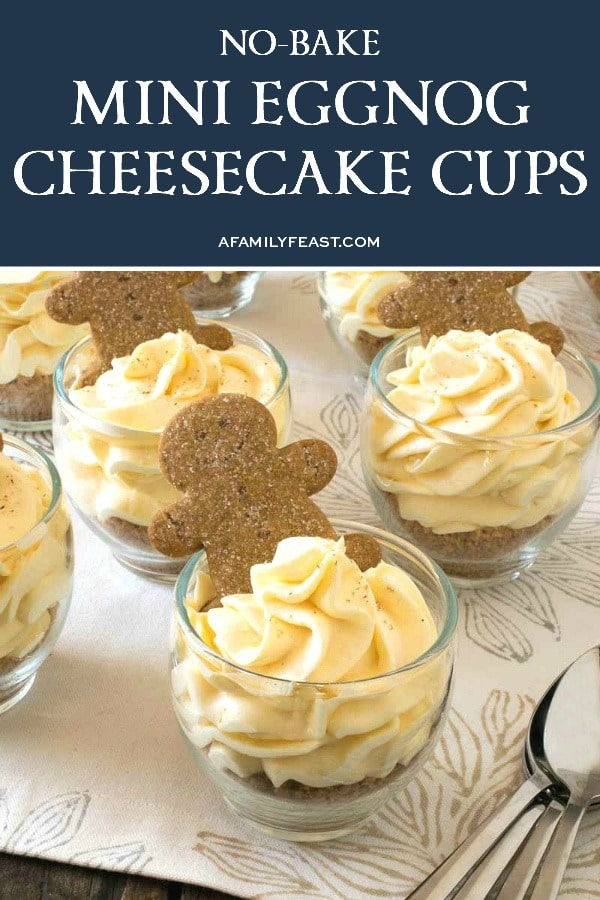 No Bake Mini Eggnog Cheesecake Cups