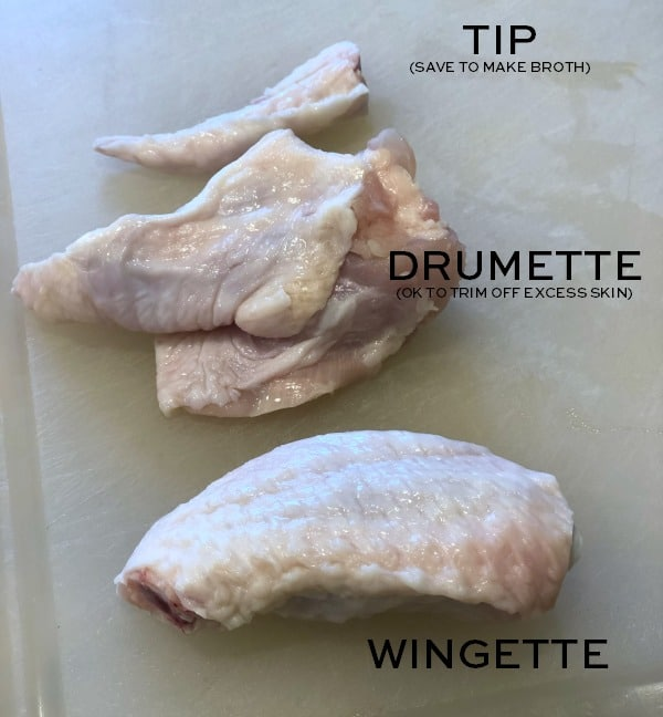 how to cut a chicken wing