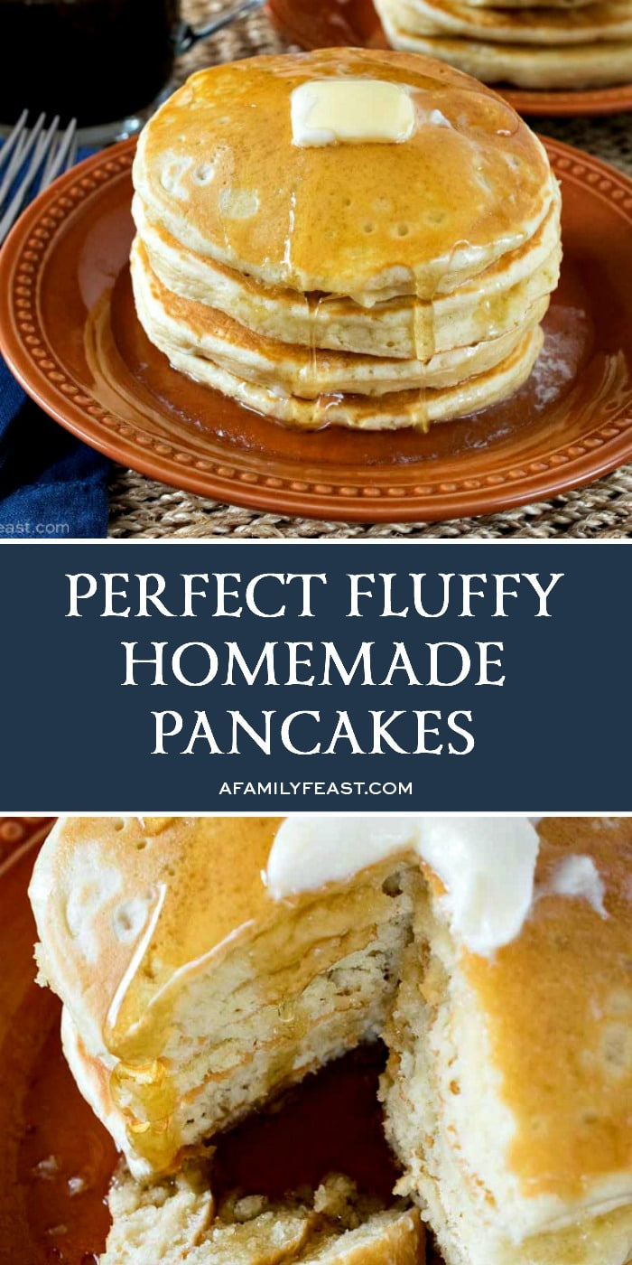 Perfect Fluffy Homemade Pancakes