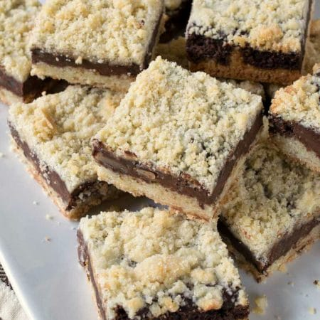 Chocolate Almond Crumb Bars
