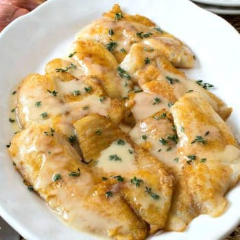 Pan-Fried Tilapia with Lemon Thyme Butter Sauce