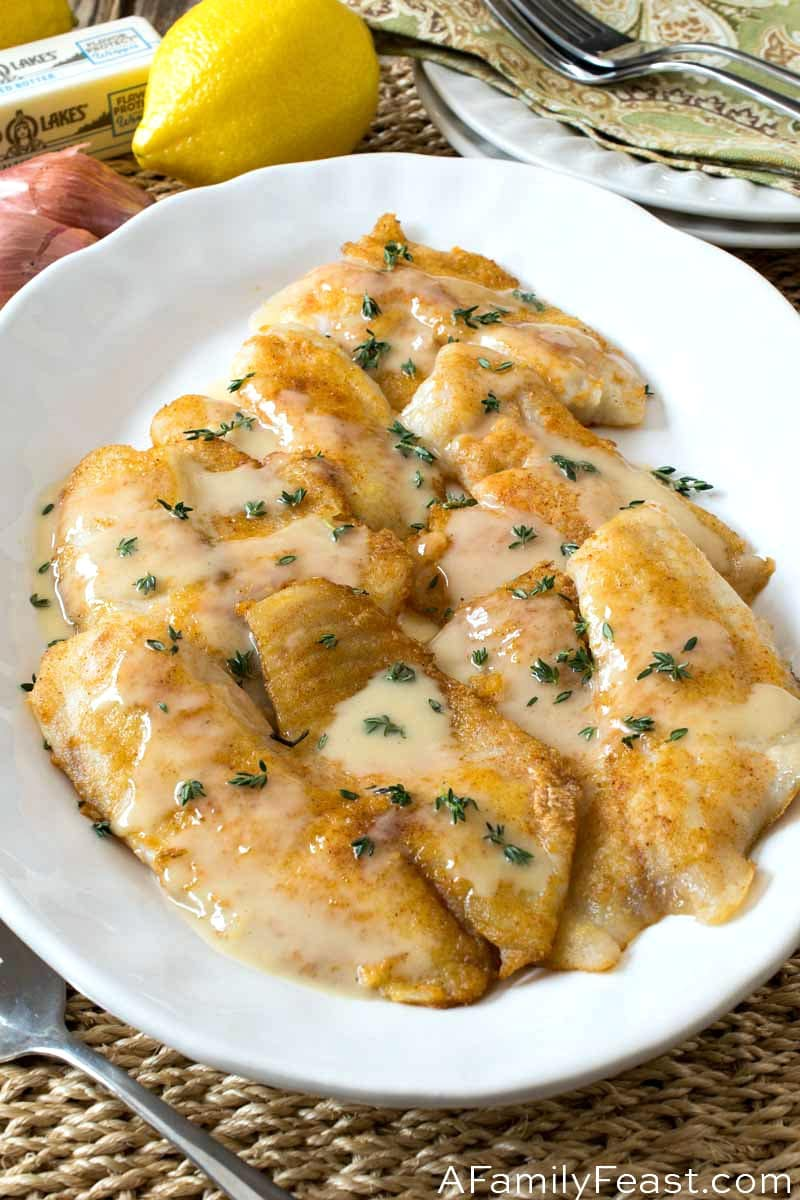 Pan Fried Tilapia With Lemon Thyme Butter Sauce A Family Feast