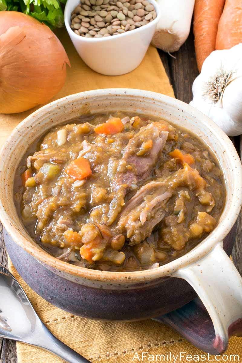Lentil Soup with Ham