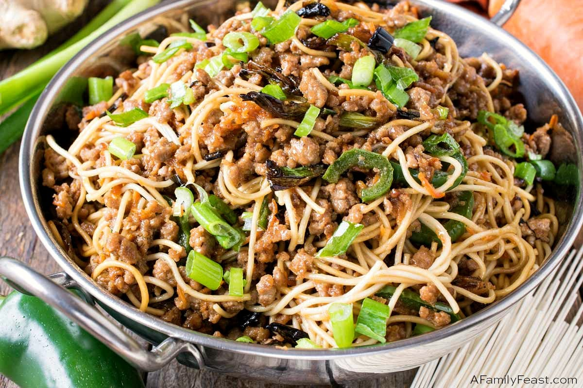 Scallion Noodles with Pork