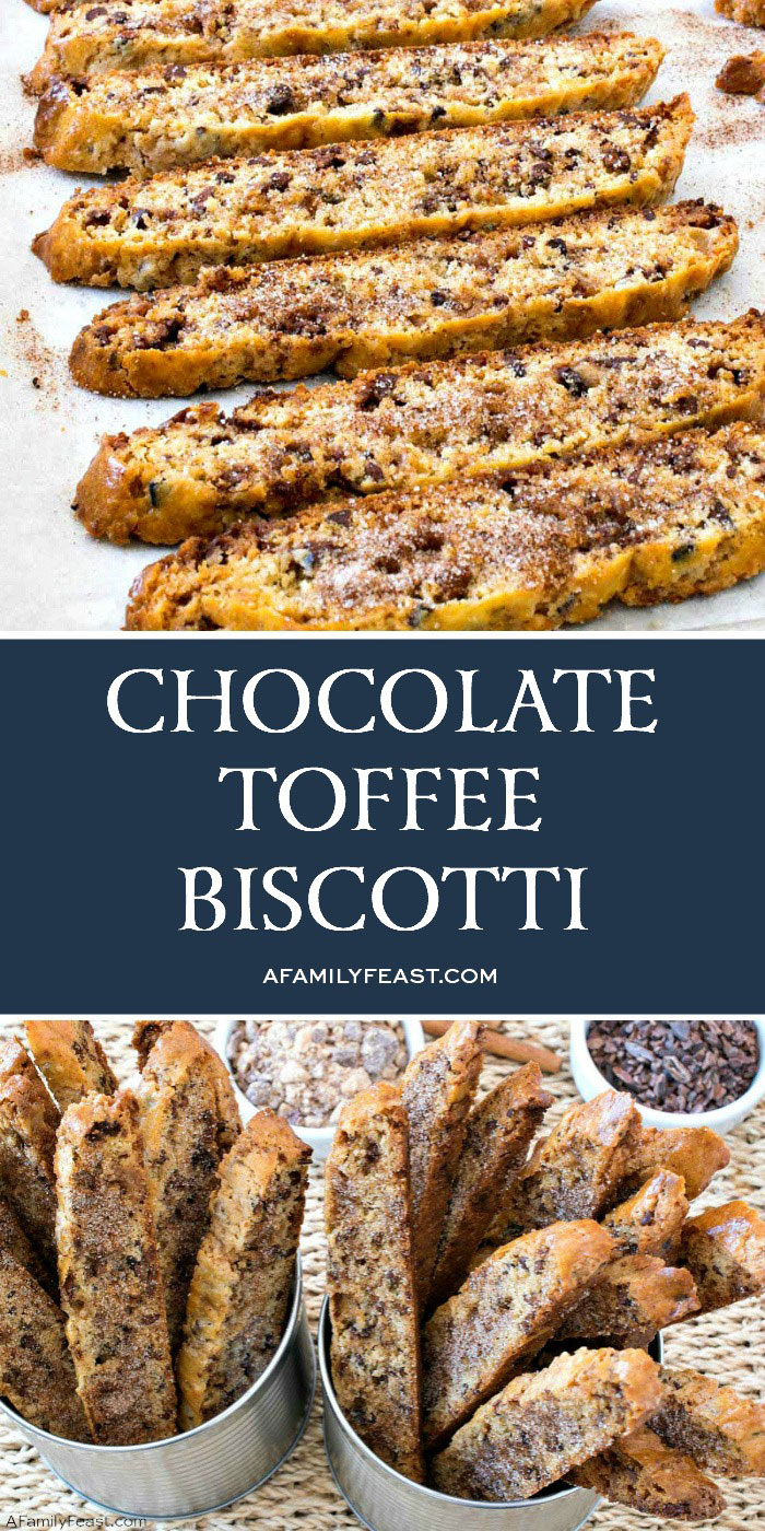 Chocolate Toffee Biscotti